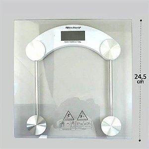 Balança de Banheiro Digital em Vidro Quadrada 180kg Yins Home
