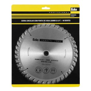 Serra Circular Com Vidia 7.1/4″ 20 mm 40 Dentes Eda