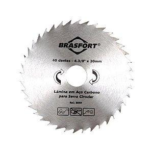 Serra Circular Em Aço Carbono 60 Dentes  4.3/8 x 20 mm  Brasfort