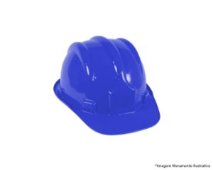 Capacete Segurança Aba Frontal Azul