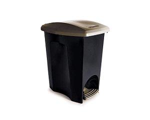 Lixeira Com Pedal Plástica Ecoblack 07 Litros