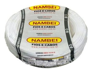 Fio Flexível Nambei 1,5mm Branco Rolo 100 Metros