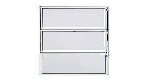 Vitro Alumínio Branco Basculante 60 x 60