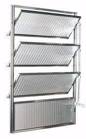Vitro Basculante 80 x 80 Aluminio Brilhante