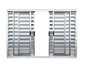 Veneziana Alumínio 6 Folhas  1,00M X 1,20M Sem Grade