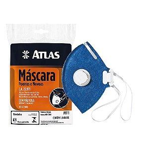 Mascara Proteção Com Valvula  Atlas Azul