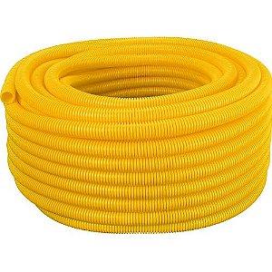 Conduíte Corrugado Amarelo 3/4 X 50 Metros