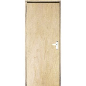 Porta Lisa De Pinos Fechadura Simples 80 X 210 cm Direita
