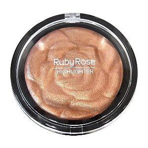 BAKED HIGHLIGHTER POWDER ROSE GOLD - RUBY ROSE