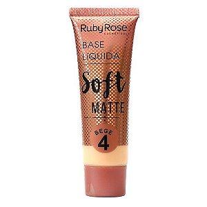 BASE LÍQUIDA SOFT MATTE BEGE 4 - RUBY ROSE