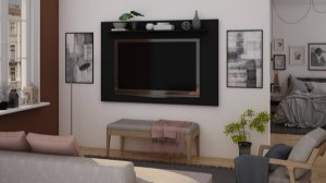 Painel p/ TV 65'' Arizona Gelius Preto 107x160x18