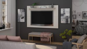 Painel p/ TV 65'' Arizona Gelius Off White 107x160x18