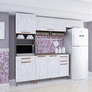 Cozinha Gold 7 Pts 3Gav 4Prats 217x260x53 Noz/Avelã Indekes