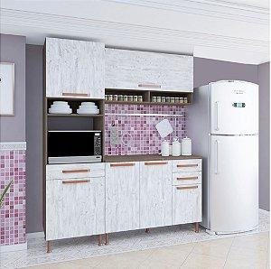 Cozinha Planejada Gold 3 Pç 180x53x217 Noz\Avelã Indekes
