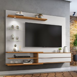 """Painel p/ TV 60"""" NT1115 Nice Notável Off White 151x180x36"""