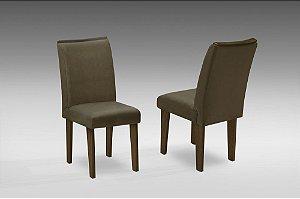 Conjunto 2 Cadeiras Florença Dobuê Castanho/Castor 97x42x44