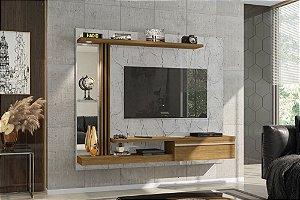"""Painel p/ TV 55"""" Denver Bechara Carrara/Canela 136x160x29"""
