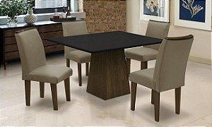 Conjunto Mesa c 4 Cadeiras Florença Dobuê Cast./Pt 78x90x120