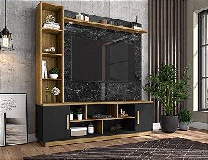 """Home Para TV 60"""" Prestige Bechara Nero/Preto/Can 191x180x45"""