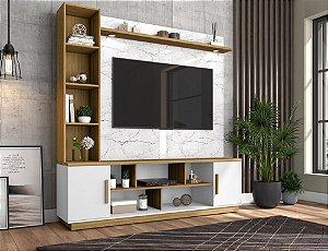 """Home Prestige  p/ TV 60"""" Bechara Carrara/Bco/Can 191x180x45"""