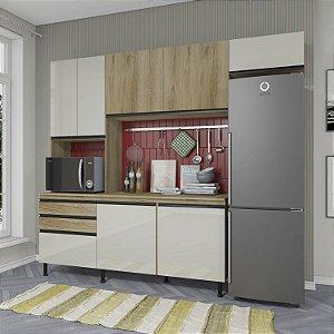 Cozinha Completa Pérola Indekes Off / Castanho 217x255x53