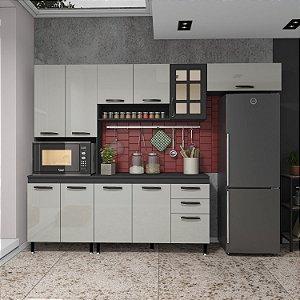 Cozinha Planejada Marie Indekes 4 Pçs Off / Cinza 204x270x53