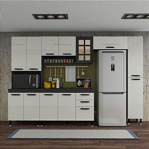 Cozinha Planejada Marie Indekes 5 Pçs Off / Cinza 204x305x53