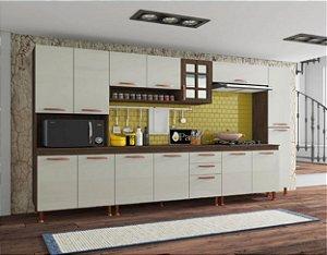 Cozinha Planejada Marie Indekes 6 Peças Noce 204x305x53