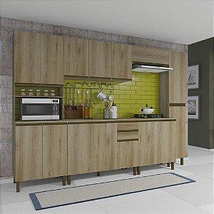 Cozinha Planejada Dinamarca Indekes 6 Pç Castanho 217x310x53