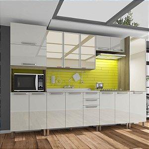 Cozinha Planejada Lis Indekes 6 Pçs Off/Castanho 53x320x226