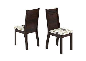 Conjunto 2 Cadeiras Dublin Viero Pitanga/Imbuia 99x40x40