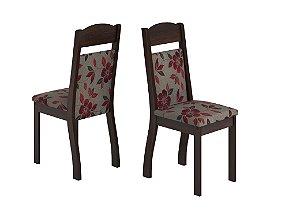 Conjunto 2 Cadeiras Top/Capri Viero Pitanga/Imbuia 99X40X40