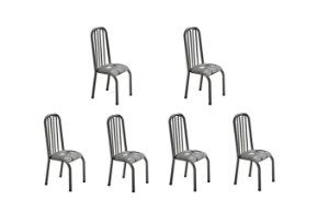 Conjunto 4 Cadeiras Gabi Ref 260/15 Madmelos Preto 102x39x47