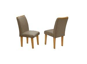Conjunto 2 Cadeiras Florença Dobuê Mel/Mascavo 97x42x44