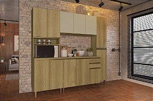 Cozinha Planejada Dinamarca Indekes 4pçs Cast/Off 270x53x217
