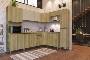 Cozinha Planejada Dinamarca Indekes 8pçs Cast/Off 263x53x217