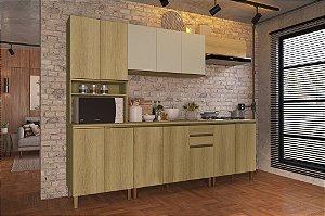 Cozinha Planejada Dinamarca Indekes 5pçs Cast/Off 270x53x217
