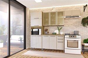 Cozinha Planejada Lis Indekes 4 Pçs Off/Castanho 53x270x226
