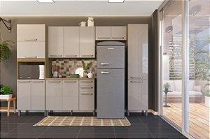 Cozinha Planejada Lis Indekes 5 Pçs Off/Castanho 53x320x226