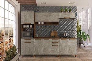Cozinha Planejada Gold Indekes 5 Pçs Noz/Avelã 53x217x260