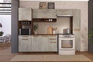 Cozinha Planejada Gold Indekes 5 Pçs Noz/Avelã 53x217x300