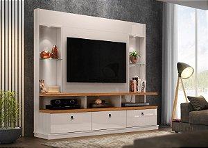 Estante Home para TV 55''  Dinamarca Lukaliam Off White