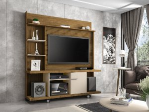 "Home Taurus para TV 47"" 160x39x175  Canela/Off White Bechara"