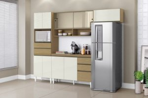 Cozinha Compacta Michele Plus 199X250X48 Off/Can Aramóveis