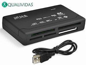 Leitor de cartão de memória USB 2.0 All in One mini externo universal