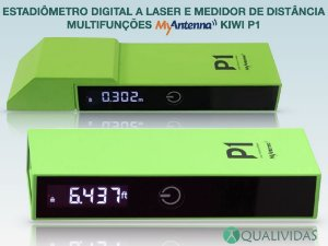 Estadiômetro Digital Medidor de Distância a Laser Portátil Multifuncional MyAntenna Kiwi P1