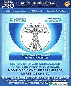 Registro adicional para Módulo Parâmetros Livres do software profissional Tanita Pro Gmon Health