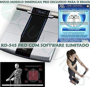 Balança de Bioimpedância Tanita RD-545 InnerScan Pro com Software Ilimitado em Português Gmon Health Profissional