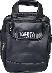 Bolsa mochila de transporte para balança Tanita original e notebook em couro ecológico PU com alça
