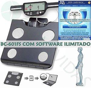 Balança de Bioimpedância Tanita BC-601FS com Software Ilimitado em Português Gmon Health Profissional Original